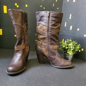 Prima Brown Heeled Boots